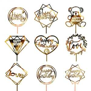 HAPPY BIRTHDAY Cake Topper Insert Card Acrylic Cake Decoration Party Decor Acrylic Card Festive & Party Supplies