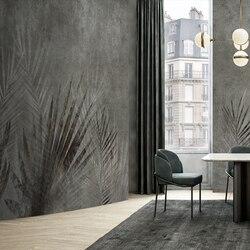 MASAR Ретро креативный цветок растение на заказ Фреска темно-зеленый фон настенная бумага Ресторан спальня обои тени перекрытие