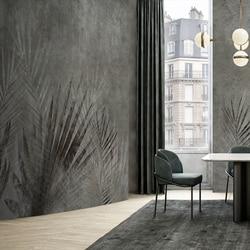 MASAR retro kreative blume pflanze nach wandbild dark grün hintergrund wand papier restaurant schlafzimmer tapete Schatten überlappung