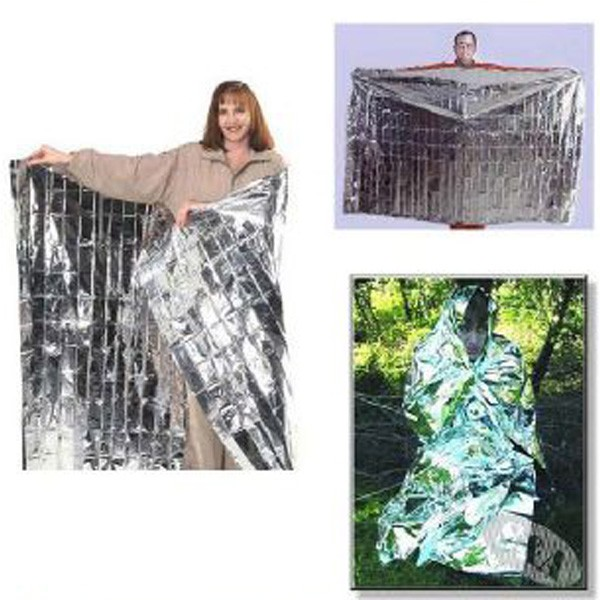 Emergency Survival Gear Rescue Space Silver Mylar Thermal Blankets Warm Wrap Matve