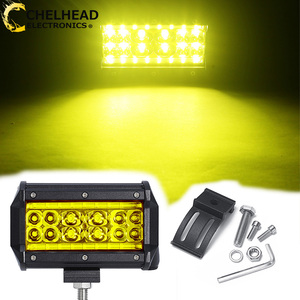 78W 5 Inch Barra Led 12v Spot Beam Yellow White Car Work Light 24V Working Lightbar for Off Road Truck ATV SUV 4X4 Auto