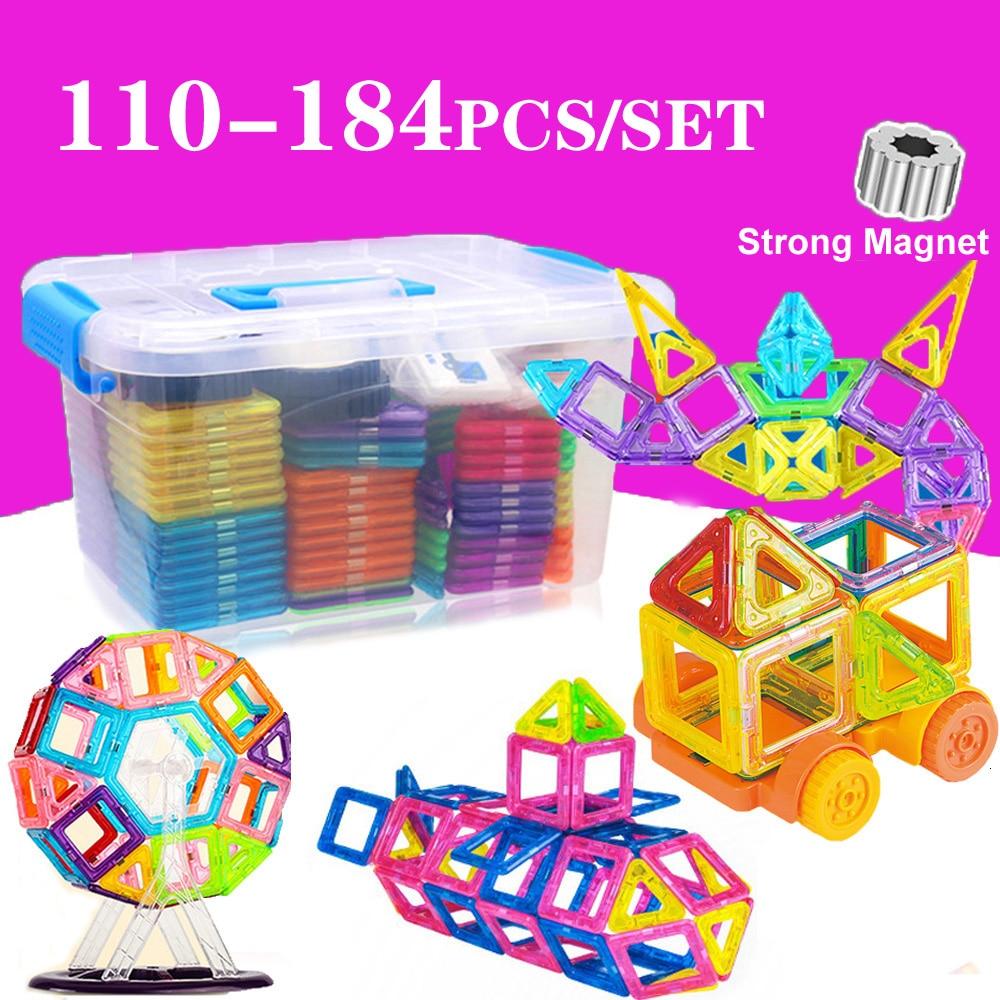 110 184pcs Magnetic Designer Construction Set Model & Building Toy Plastic Magnetic Blocks Educational Magnet Toys For Children|Magnetic|   - AliExpress