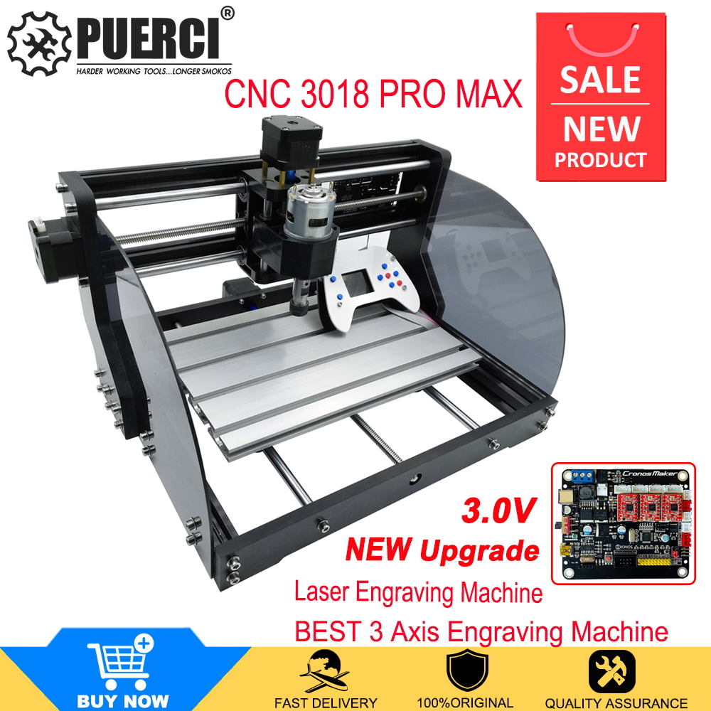 Upgrade version CNC 3018 Max Laser Engraver GRBL With Offline DIY 3Axis PBC Milling Laser Engraving Machine Wood Router
