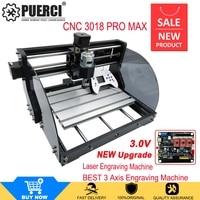 Versão de atualização cnc 3018 max gravador a laser grbl com offline diy 3 eixos pbc fresagem a laser máquina gravura roteador madeira|Roteadores de madeira| |  -