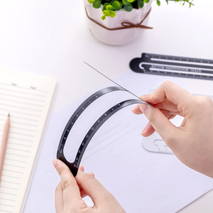 High Quality 12cm 15cm Metal Steel Ruler Bookmark School Student Drawing Supplies
