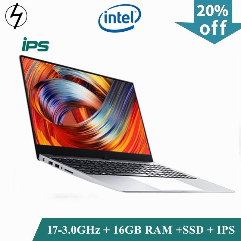 LHMZNIY jeu SSD ordinateur portable 15.6 pouces corps en métal Intel i7 4500U 16GB RAM Windows 10 ordinateur portable bureau étudiant travail BT WiFi Webcam