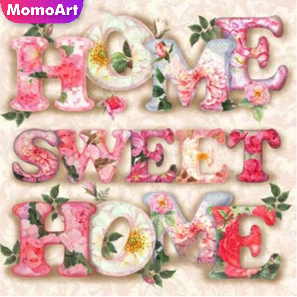 MomoArt Diamond Embroidery Sweet Home Cross Stitch Full Square Painting Diy Decoration