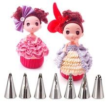 Ckot цветок в Корейском стиле наконечник кукольная юбка носик для украшения бесшовные Нержавеющая сталь носик для украшения насадки для украшения тортов