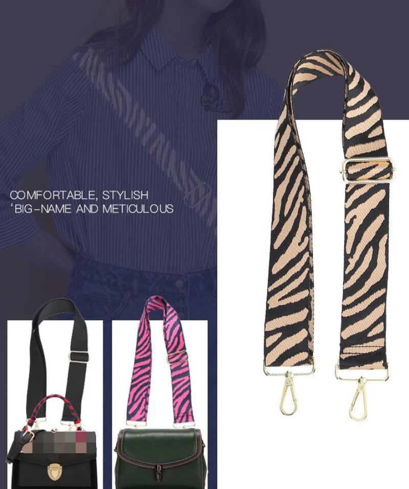 Zebra Pattern Bag Straps Camouflage Handbag Belt Wide Replacement Shoulder Bag Strap accessories for bags Adjustable Belt 130cm