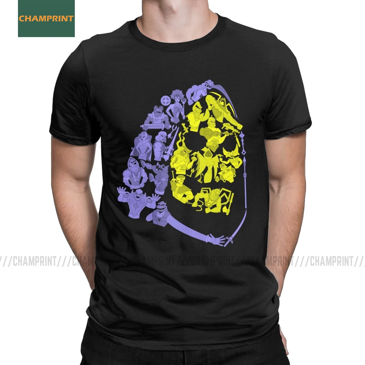 Skeletor And Friends He-Man Masters Of The Universe T Shirt Men Cotton T-Shirts Skeletor 80s She-Ra Beast Tees Short Sleeve
