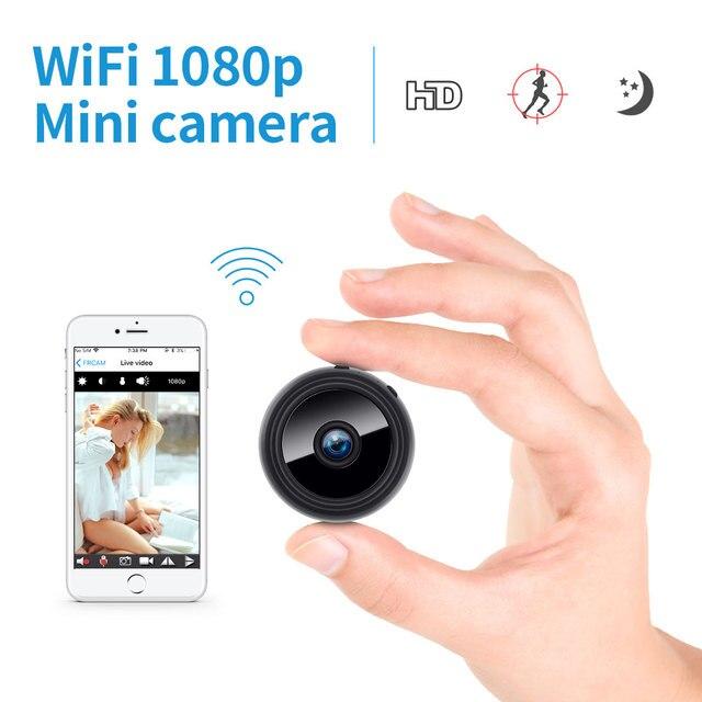 2.0MP بروتابلي كاميرا IP صغيرة واي فاي 1080P HD كاميرا الأمن الصغيرة بطارية لاسلكية كاميرا للرؤية الليلية كاميرا مراقبة السيارة