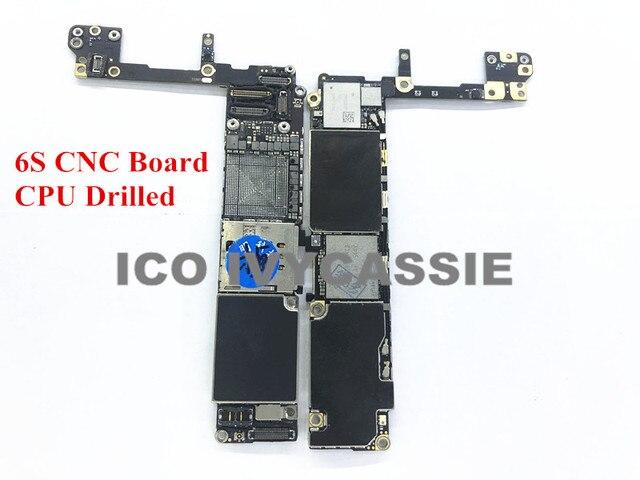 Dành cho iPhone 6S CNC Ban Khoan Với CPU 16GB 64GB 128GB iCloud Bị Khóa Bo Mạch Chủ Loại Bỏ CPU hoán đổi Mainboard Logic Ban