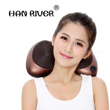 Ugniatanie na kark i ciało młotek do masażu poduszka na podczerwień Shiatsu elektryczny masaż pleców masaż samochodowy tanie i dobre opinie HANRIVER