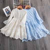 Vestido de encaje de princesa para niña, bordado Floral, para fiesta de bebé, vestido de concurso de boda, vestidos formales para 3, 4, 5, 6, 7, 8 años