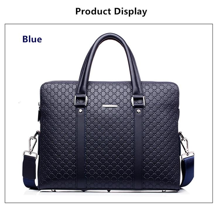 He22471d5553244399417ffbaac10d26dA New Double Layers Men's Leather Business Briefcase Casual Man Shoulder Bag Messenger Bag Male Laptops Handbags Men Travel Bags