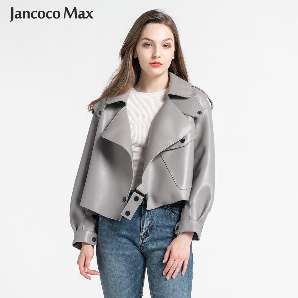 Vestes en cuir véritable peau de mouton pour femmes Top qualité manteau en cuir véritable mode vestes dame nouveauté S7547-in En cuir et Suède from Mode Femme et Accessoires    1