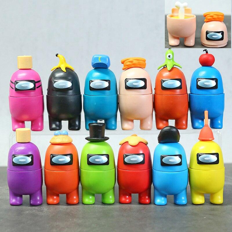 12 pçs/set entre nós figura de ação deformável brinquedos pvc modelos bonecas 8-10cm para crianças presente