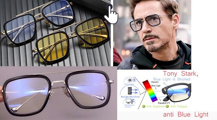 Men Anti-Blue Light Spectacles-Anti-Fatigue