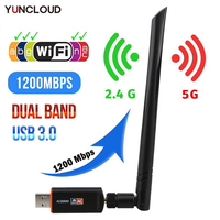 Mini adattatore Wifi Wireless USB Driver gratuito 1200Mbps 600Mbps Lan USB Ethernet 2.4G 5G scheda di rete Wi-fi Dual Band 802.11n/g/a/ac