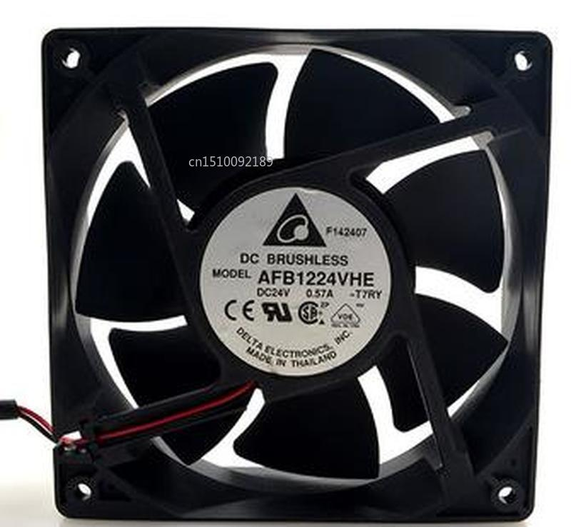 For Delta AFB1224VHE DC 24V 0.57A 12cm 12038 120*120*38mm 2-wire Inverter Cooling Fan Free Shipping