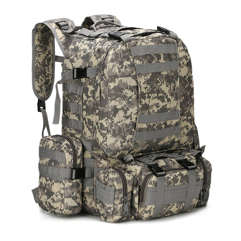 55L Molle Military Backpack SWAT Army Field Survival Camo Travel Bag Multifunction Double shoulder Large Capacity