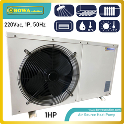 1P air source heat pump water heater is good choice for household applications, easy installation and maintain
