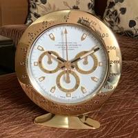 Luxury Rose Gold Wall Clock Modern Design Metal Table Clocks Luminova Art Watch Modern Desk Clocks Calendars with Logo Gift