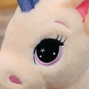 Image 5 - Soft Rainbow Unicorn Plush Toy Baby Doll  Stuffed Animal Horse Girls Christmas Gift Toy for Children halloween