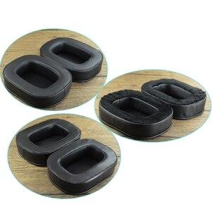 Image 4 - Almohadillas suaves de piel de oveja, almohadillas para los oídos de espuma viscoelástica, cojines para investigación acústica, auriculares para AR H1
