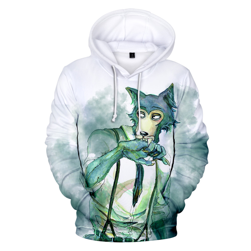 3D BEASTARS Hoodies Men/Women/kids Wolf Hooded Sweatshirt Spring Autumn Anime Harajuku Tracksuit Hoodie Japan Cosplay Costume