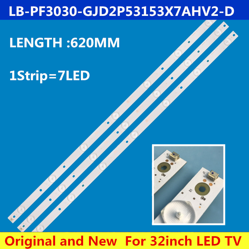 620mm LED Backlight Strip 7 Lamp For Lb-pf3030-GJD2P53153X7AHV2-D 32pht4101/60 KDL-32R330D 32phs5301 Tpt315b5-whbn0.k