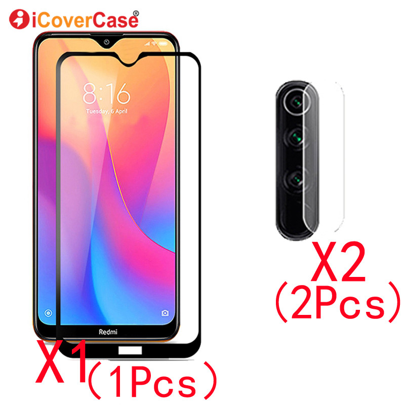 2Pcs Camera Tempered Glass Film And Front Glass For Redmi Note 8T 8 Case Mobile Accessory Back Camera Protector Lens For Note8 T