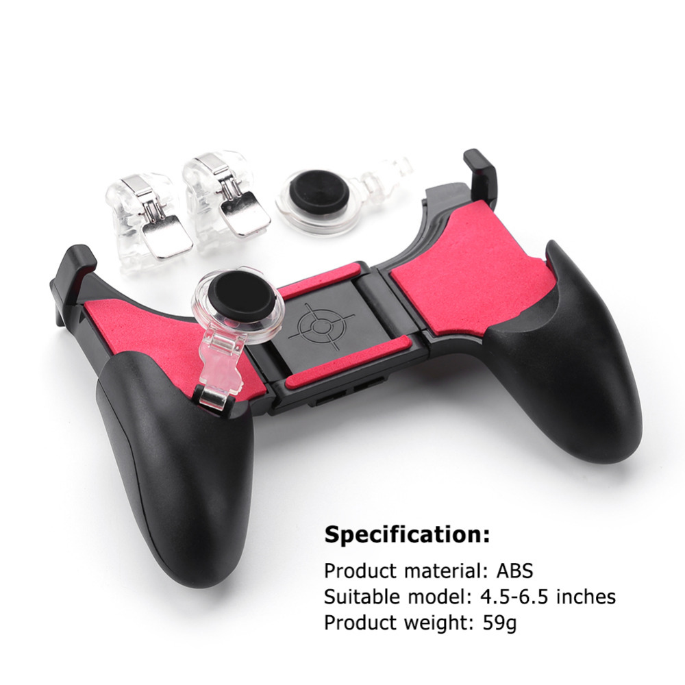 5 in 1 PUBG Moible Controller Gamepad Free Fire L1 R1 Triggers PUGB Mobile Game Pad Grip L1R1 Joystick for iPhone Android Phone-in Gamepads from Consumer Electronics