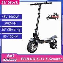 L'ue Stock PFULUO X-11 Kickscooter 50 km/h tout-terrain Scooter électrique intelligent 48V 1000W moteur 11 pouces 2 roues Hoverboard planche à roulettes