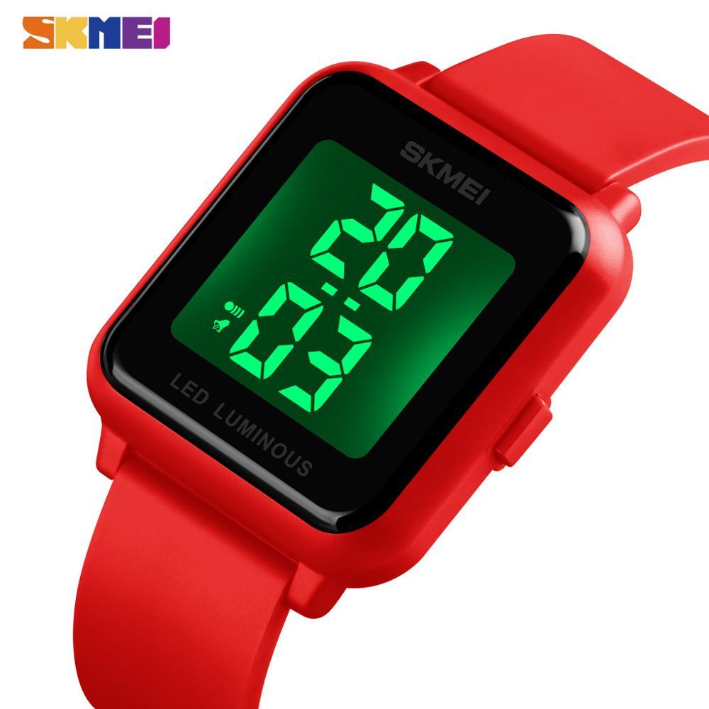 Relógio para Mulheres dos Homens à Prova Relógios de Pulso Esporte ao ar Skmei Digital Dwaterproof Água Alarme Senhora Livre Relógio Eletrônico Hora Reloj Hombre 1566 Led