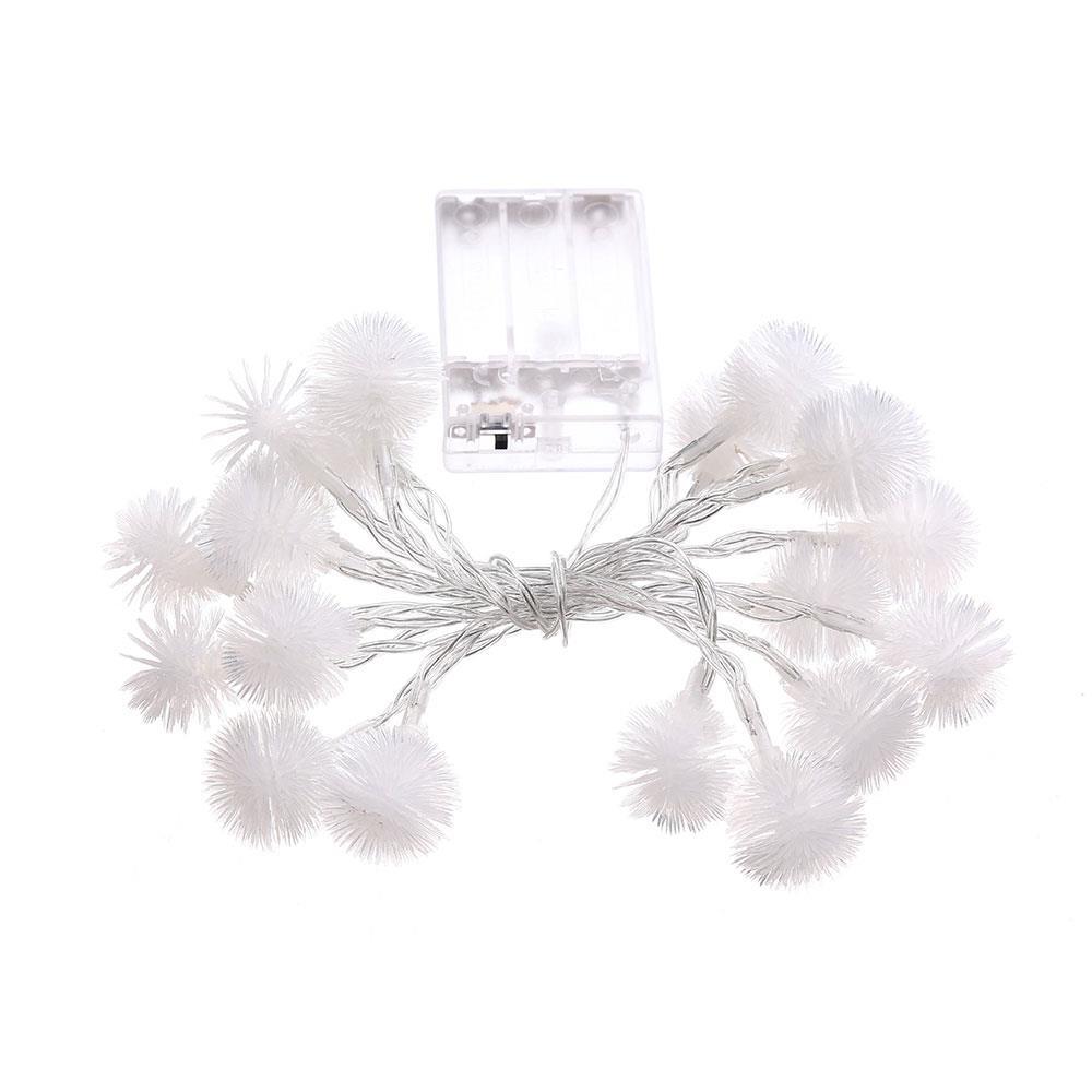 Light String Fairy Lights Pompon Shape Christmas Wedding Garden Decorations 2.2M