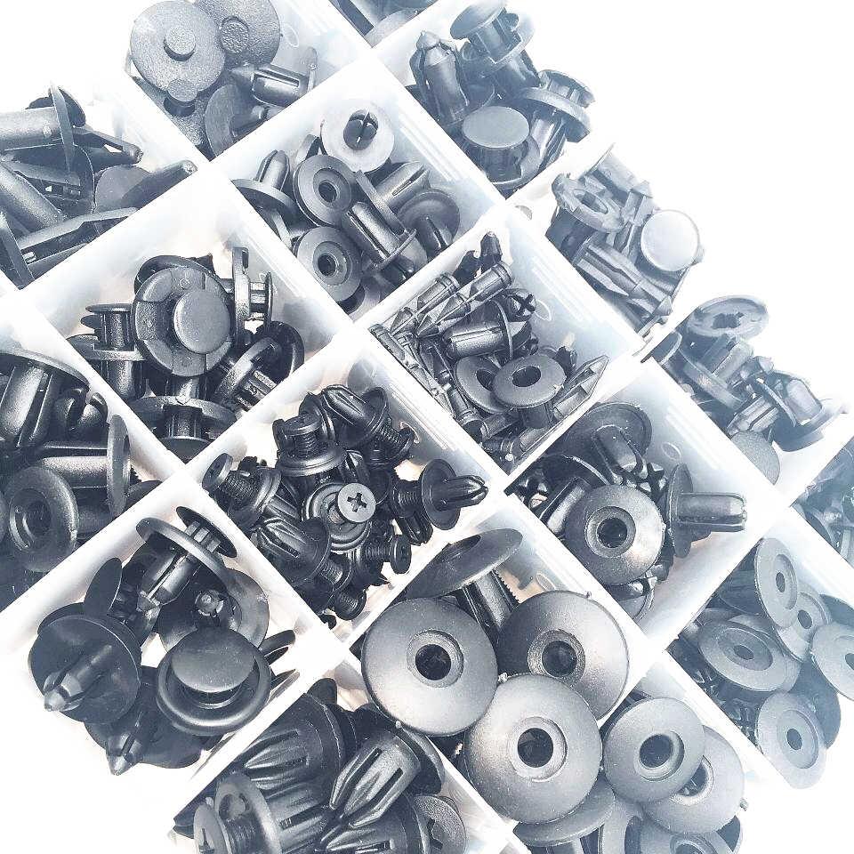 260 adet otomatik tampon çamurluk vidalı plastik raptiye kutu seti dodge magnum için vw beetle srt8 jetta mk3 suzuki sx4 toyota fj cruiser