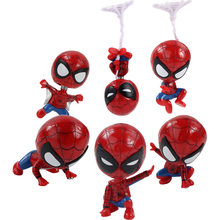 6 estilos Q Versão Mini Spiderman Marvel Homem-Aranha PVC Action Figure Collectible Toy Boneca do Regresso A Casa(China)