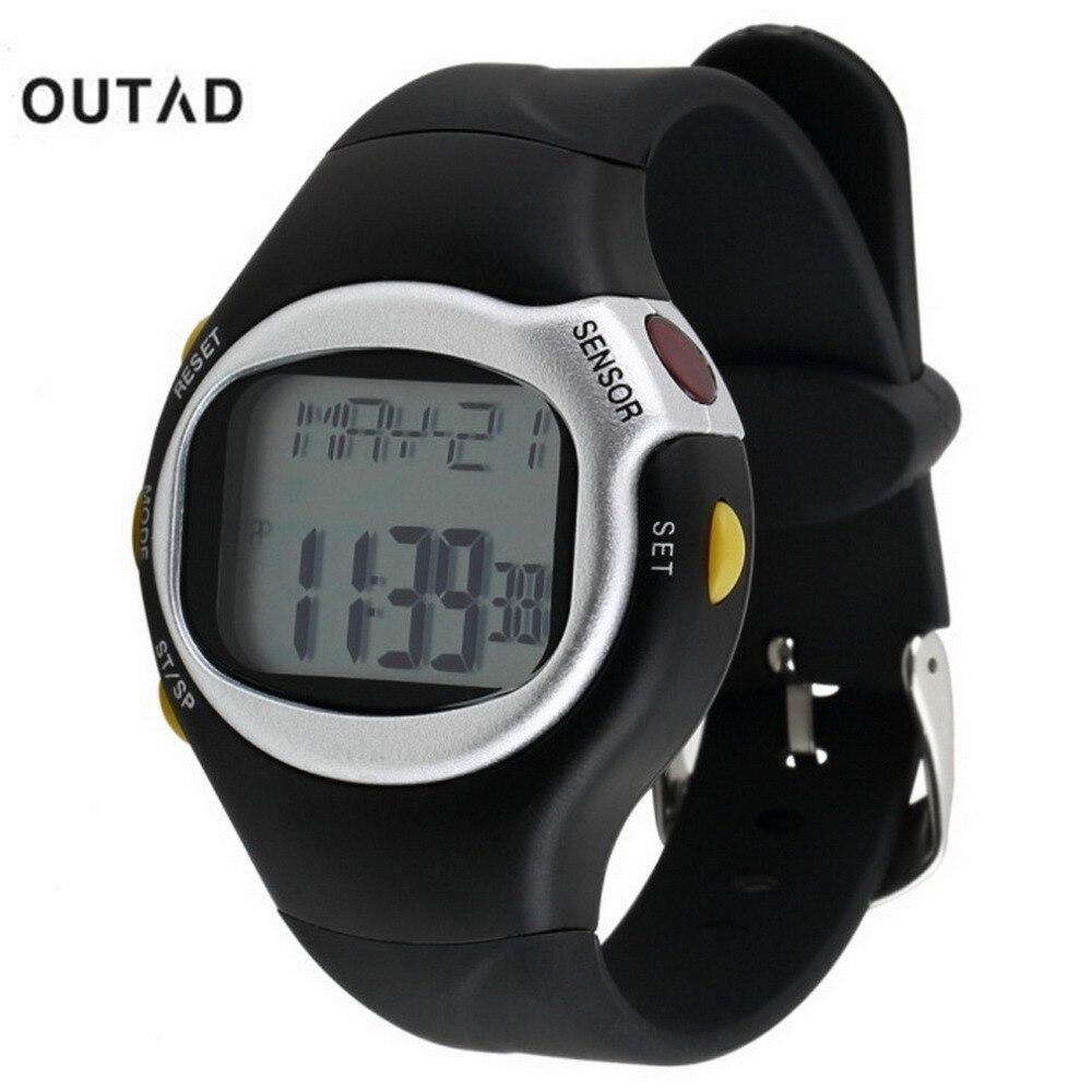 Men Sports Watch Saat Black Pulse Heart Rate Monitor Calorie Counter 1pcs Calorie Counter Exercise Touch Sensor Digital Watch