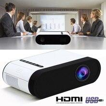 GC20 светодиодный мультимедийный проектор 500 люмен 3,5 мм аудио 320x240 пикселей HDMI USB мини-проектор домашний подарок на Рождество