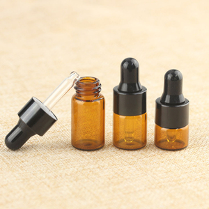Image 5 - 50Pcs 1ml/2ml/3ml Glass Amber Essential oil Dropper Bottles Aluminum cap Reagent Drop Eye Liquid Pipette Aromatherapy Containers