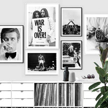 Black White Gallery Wall Iconic VIntage Posters and Prints Fashion Canvas Painting on the Wall Home Decoration Pictures No Frame