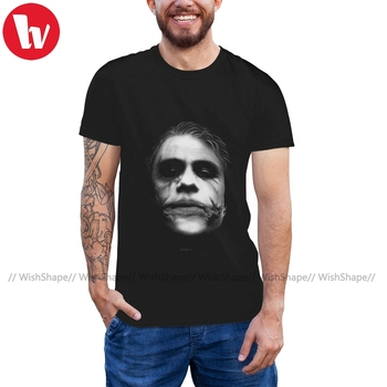 Joker T Shirt JOKER Ledger Portrait T-Shirt Fun Graphic Tee Shirt Short Sleeves Plus size Tshirt