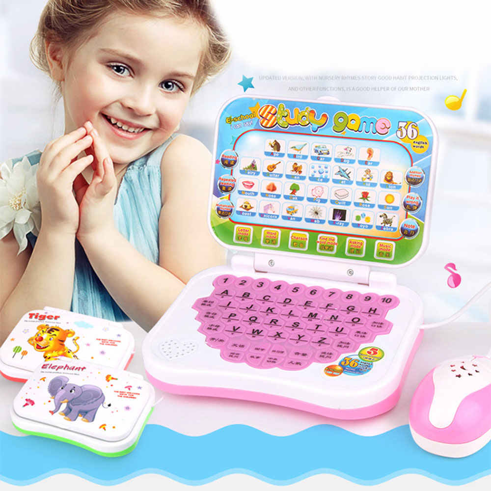 children Educational Machine Toys For Baby Kids Pre School Laptop Computer Game Educational Learning Study Toy With High Quality image