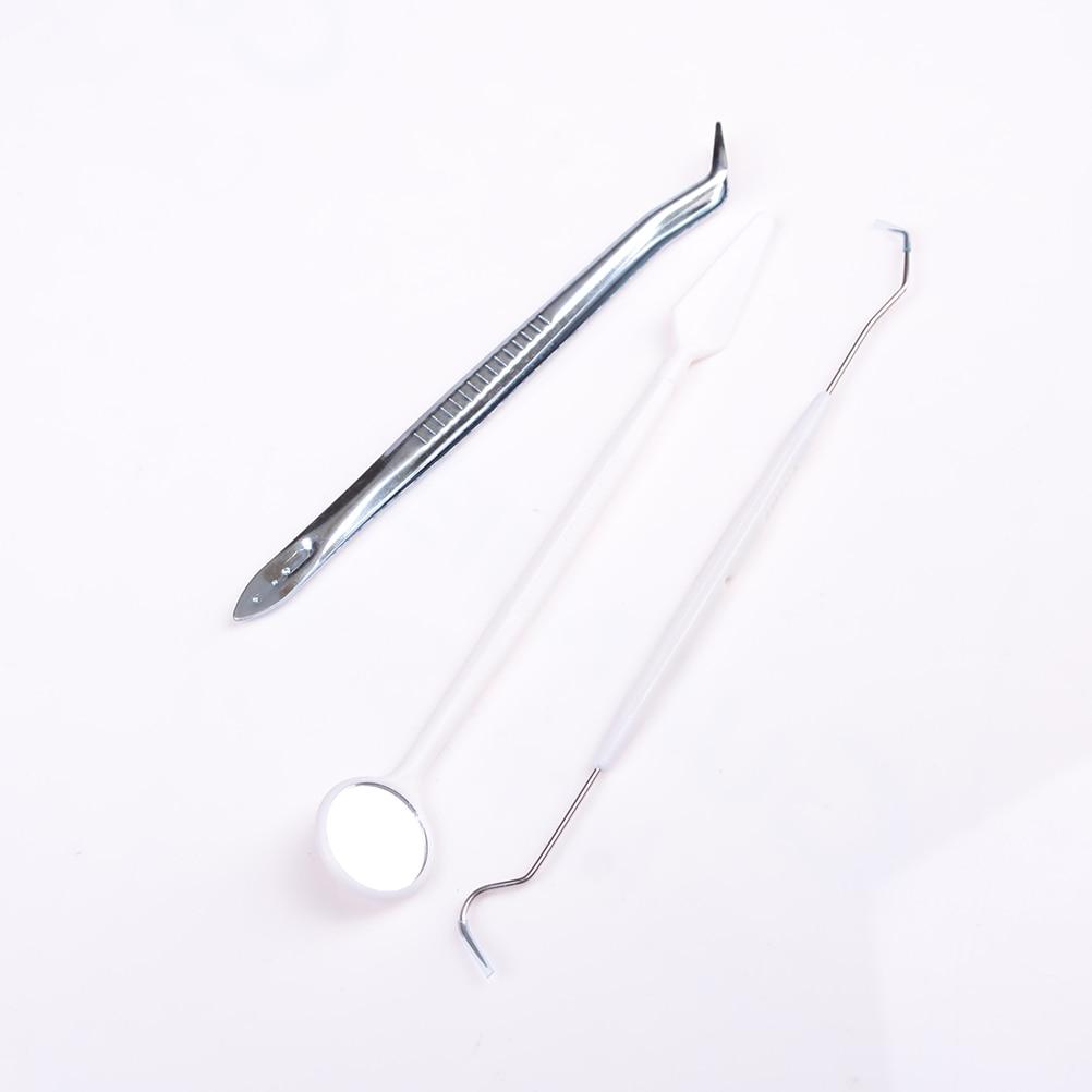 Высокое качество, 1 комплект, стоматологические инструменты из нержавеющей стали, зеркальный зонд, плоскогубцы, пинцет для чистки зубов, гиг...