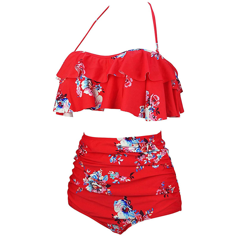 He22690436d7742b3978be0d151e60c2aN 2019 New Bikinis Women Swimsuit High Waist Bathing Suit Plus Size Swimwear Push Up Bikini Set Vintage Beach Wear Biquini