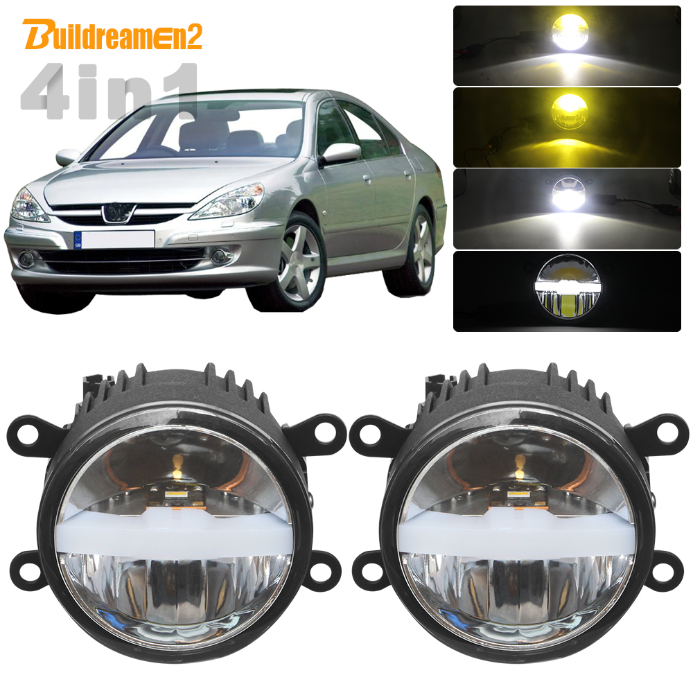 30W Car LED Light Kit Fog Lamp Headlight High Beam Low Beam DRL With Harness Wire 12V For <font><b>Peugeot</b></font> <font><b>607</b></font> (9D, 9U) Saloon 2000-2006 image