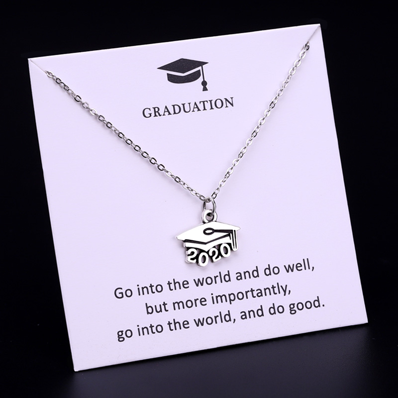 Graduation Gift Graduate Necklace Degree Diploma Senior Choker Necklaces School Leavers 2019 2020 Women Jewelry image