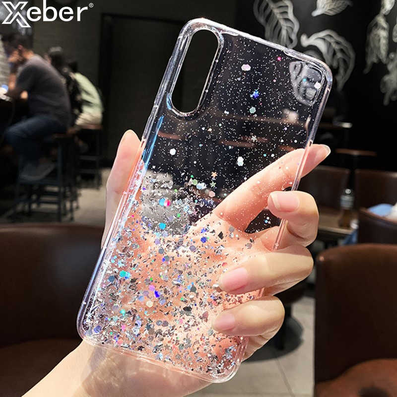 Glitter Bling Gold Silver Sequins ฟอยล์โทรศัพท์กรณีสำหรับ Xiaomi Redmi หมายเหตุ 8T 7 6 5 Pro K20 K30 8A 7A 6A 4X Mi 9 SE 8 Lite MIX 3 F1