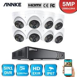 ANNKE 8CH 5MP Lite Video Security System 5IN1 H.265 + DVR Mit 8X 5MP Dome Outdoor Wetterfeste PIR Kameras Überwachung CCTV Kit